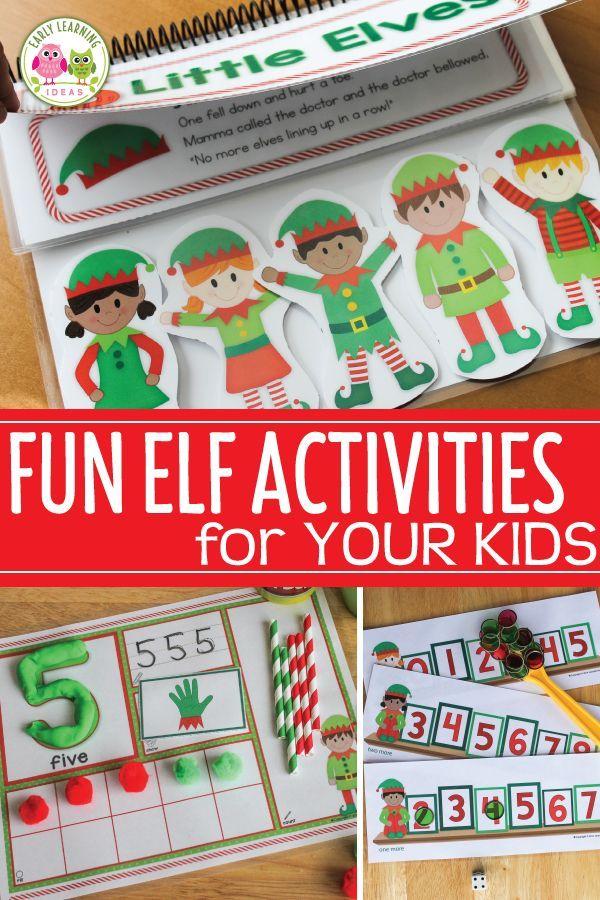 Elf Activities Bundle   Christmas Activities for Preschool and ...