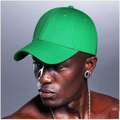 Plain green baseball cap for teens UV protection sun hats adjustable