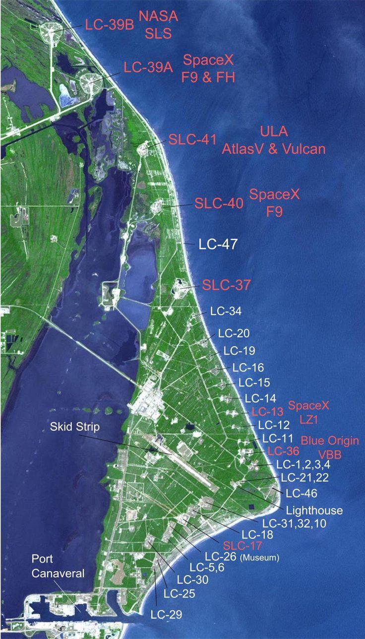 Cape Canaveral launch sites 35 best Space