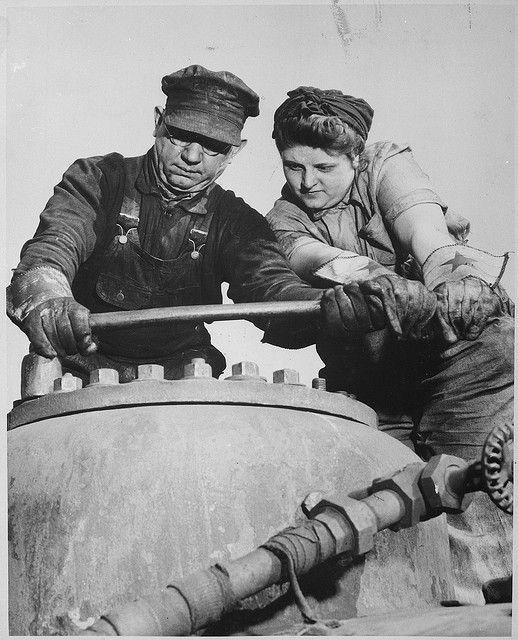 """Mechanical Helper, Baltimore & Ohio Railroad, 1940 - 1945"" U.S. National Archives"
