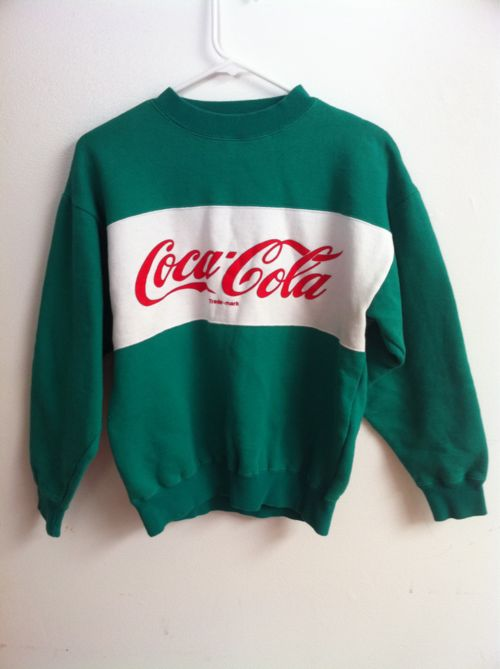 pull cropped vert bouteille coca cola