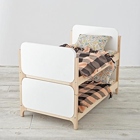 Shop Mod Doll Beds (Set of 2).  Looking for cozy doll furniture? Well, look no further.  Our Mod Doll bed is scaled down for your kid's dolls and designed exclusively for us by Royce Nelson.