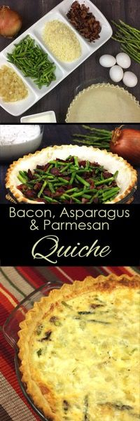 Bacon parmesan and Asparagus quiche. A quick and easy quiche that woudl be pefect for brunch! .jpg