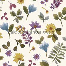 Takken en bloemen kleurrijk behang JW3706 romantisch modern Behang Expresse