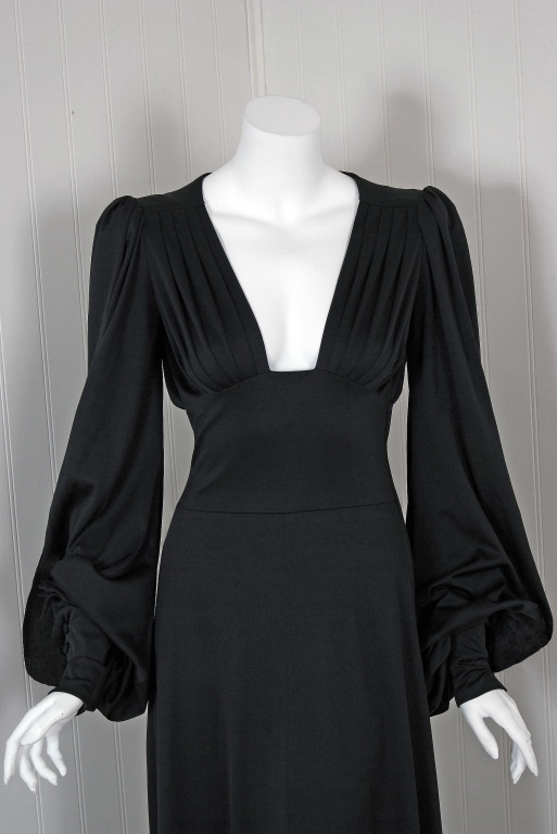 vintage Biba dress - love this neck line!