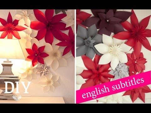 DIY: Riesige Papierblüten für Weihnachten/ Giant paper flowers for christmas | Deko Kitchen - YouTube