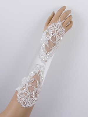 Dress your appearance for more female and traditional wedding flavor, one pair of Wedding Gloves do some difference,$18.00!
