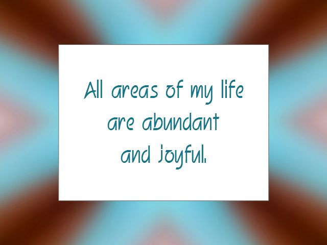 Daily Affirmation for January 27, 2014