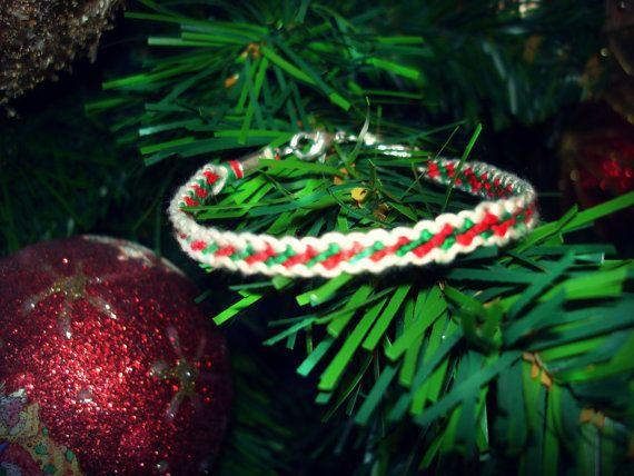 Christmas handmade candy bracelet <3