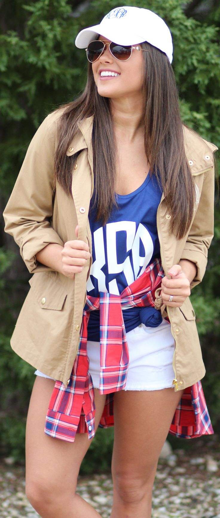 monogrammed sherpa pullover jacket tan