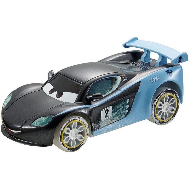 <strong>Cars - Ice Racers - Coche Superderrapes</strong> (varios modelos), un coche de gran tamaño, a escala 1:43, de retrofricción y perfecto para coger y hacer acrobacias. Un coche con un diseño en el que destaca la personalidad y que incluye una función especial para hacer derrapes ¡como en los dibujos animados! Para dar cuerda al motor solo hay que tirar del coche hacia atrás. Al soltarlo, ¡el coche sale a toda velocidad, completa un derrape de 180° y vuelve al punto de s...