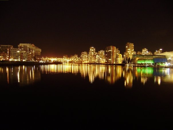 Night view 3 - Vancouver, BC - photograph taken by Rosalia Marie
