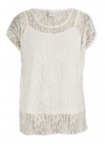 Lace Top With Cami Stone