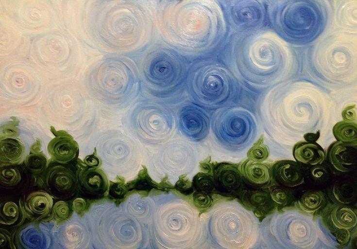 Dipinti ad olio: Lago