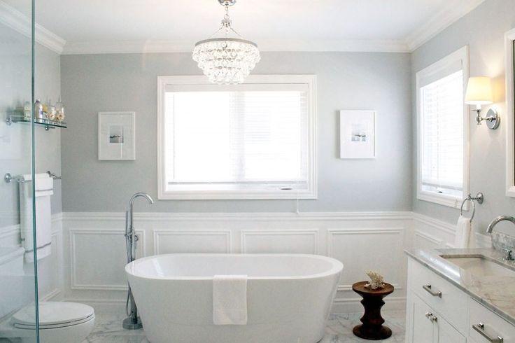 Grey And White Master Bathroom
