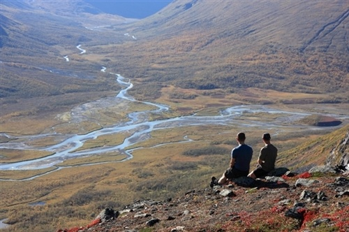 Rapadalen view in Sarek national Park, Lapland in northernmost Sweden.