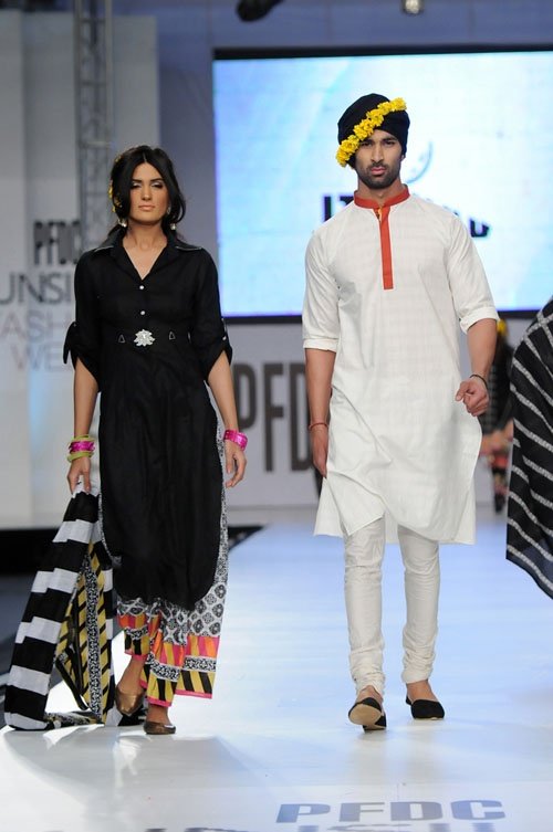 Ittehad Collection at PFDC Sunsilk Fashion Week 2012  I want those pants for me and the skinny pants for Ibri Dibri