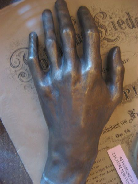 cast of chopin's hand.