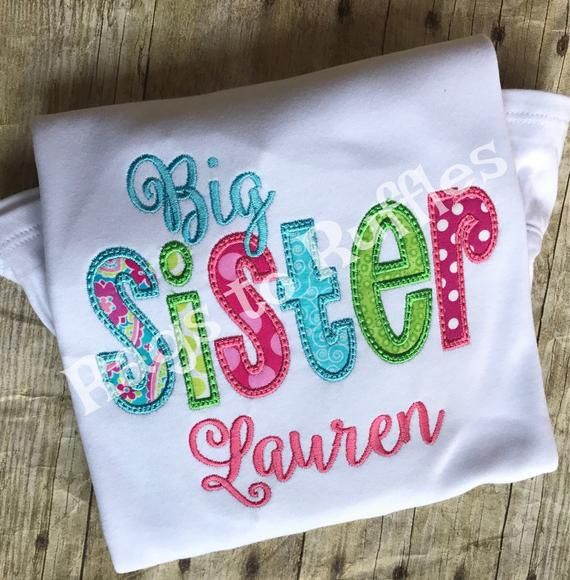 Personalized Big Sister Embroidered Shirt