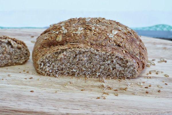 Pan integral de salvado de avena
