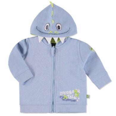 Niedliche Sweatjacke mit dekorativer Kapuze und Reißverchluss. #Babymode #Babyjacke