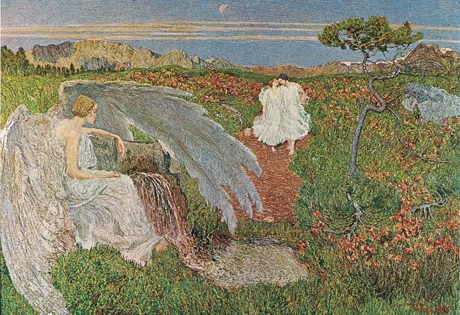 Giovanni Segantini - Love at the Spring of Life   oil on canvas