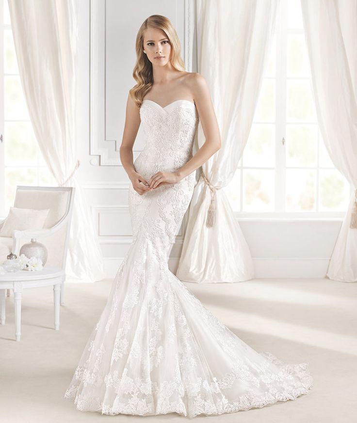 Elegant ROBLE Mermaid wedding dress in lace La Sposa