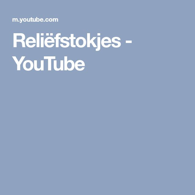 Reliëfstokjes - YouTube
