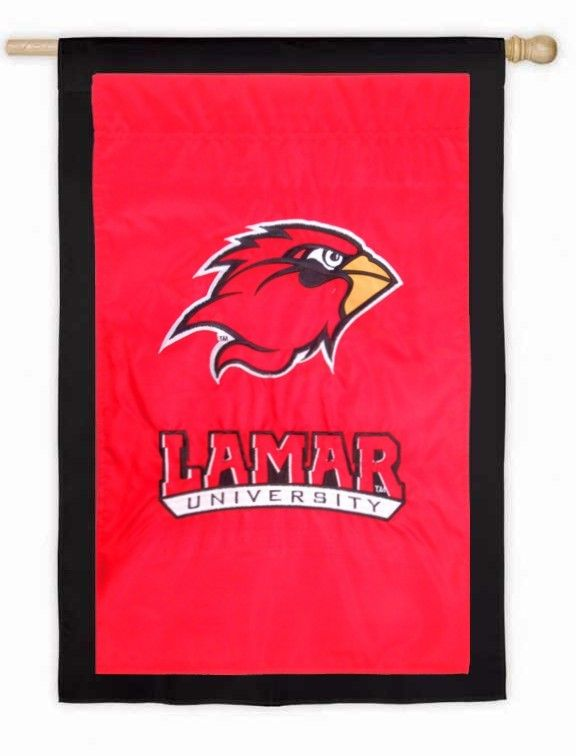 IAmEricas Flags - Lamar University Applique House Flag, $35.00 (http://www.iamericasflags.com/products/lamar-university-applique-house-flag.html)