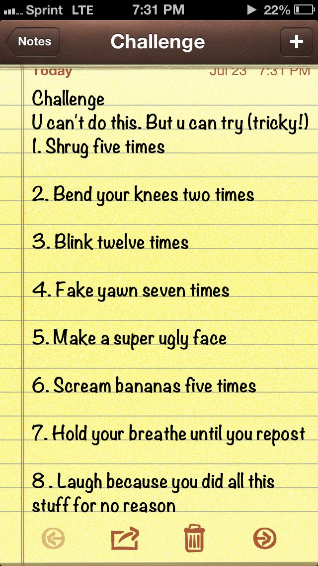 I did all of it>>>I just skipped to number 8 and laughed that I didn't do it