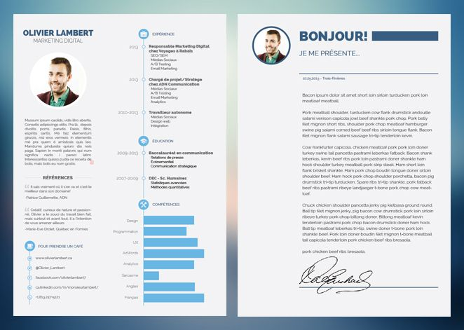 79 best CV images on Pinterest Resume design, Resume ideas and - resume 2 pages