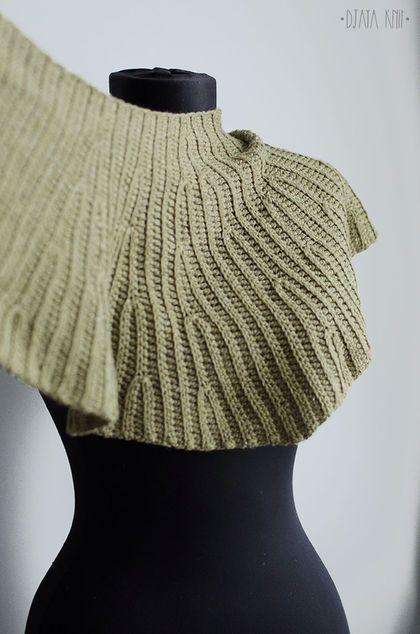 Шарфы и шарфики ручной работы. Оливковый шарф-бактус. • вязаные проекты • djaya. Ярмарка Мастеров. Шерсть