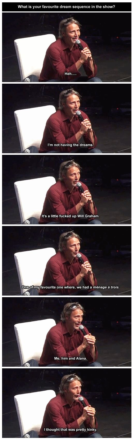 OMG Mads why are you so cute? I so wanna find the video of this interview.