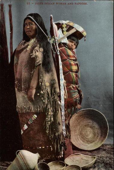 Paiute mother and child - circa 1910
