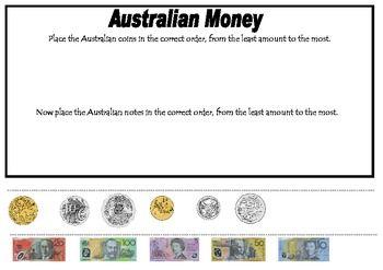 Ordering Australian Money