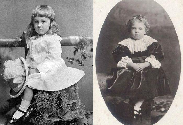Слева: будущий президент Франклин Рузвельт, справа: португальский король Мануэл II.