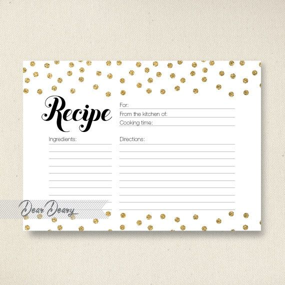 Best Recipe Cards Images On   Recipe Box Printable
