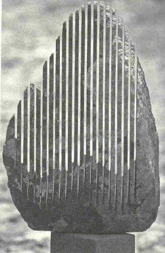 """Pietra sonante"", musical stone sculpture by Pinuccio Sciola #rareandstrangeinstruments #sculpture #lithophone # instrument #music"