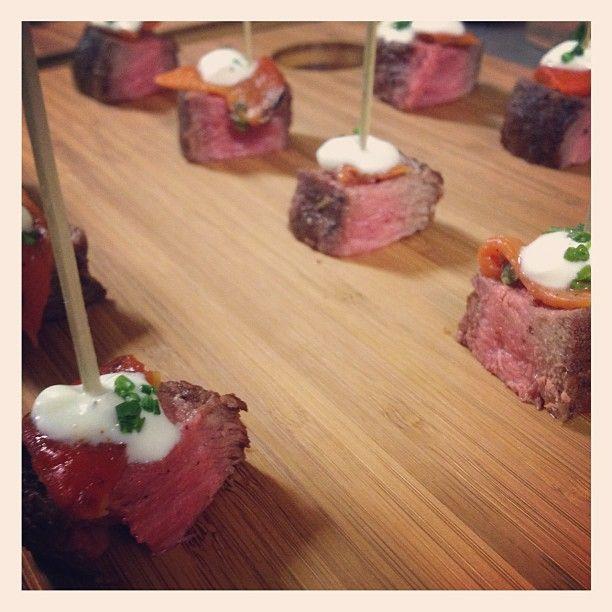 Tender Greens' flat iron steak skewers