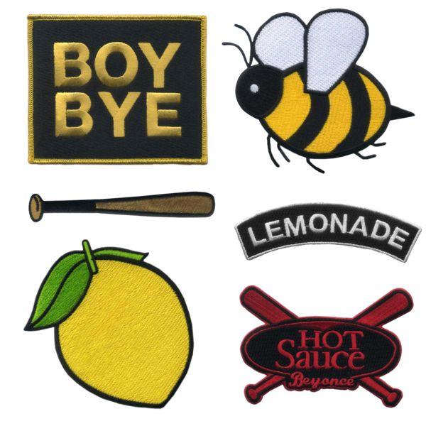 Beyonce - Lemonade Iron On Patch Set