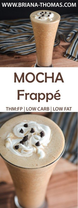 Mocha Frappe - THM:FP - low carb - low fat - low glycemic - sugar free - gluten free - egg free - nut free - dairy free - Trim Healthy Mama Fuel Pull - cheap and healthy version of Starbucks - turn it into a Mocha Chip Frappe if you like!
