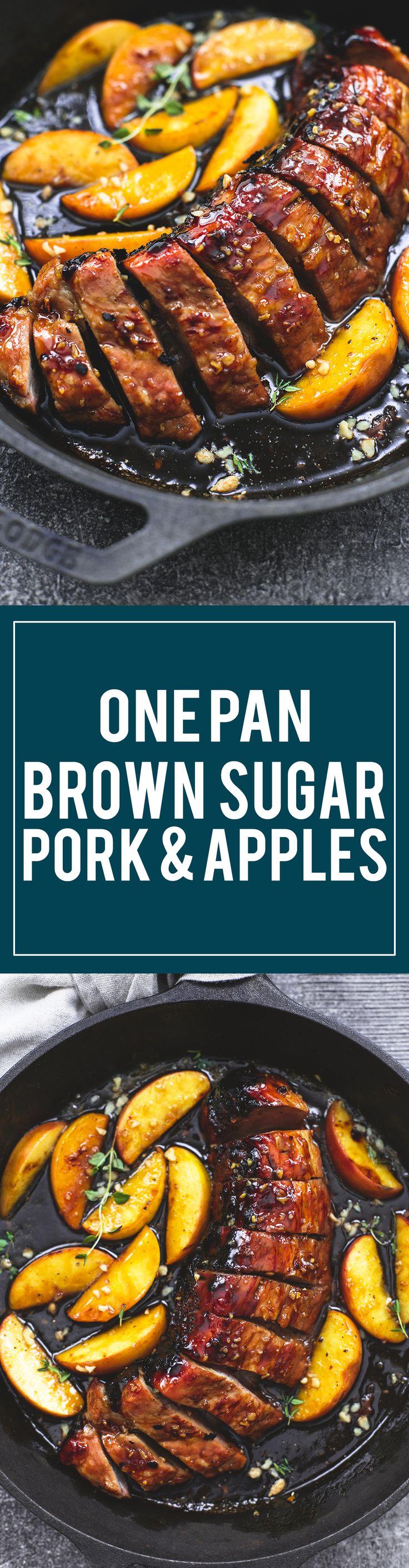One Pan Brown Sugar Pork & Apples