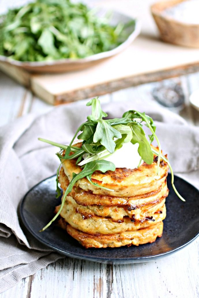 Bubble and Squeak Fritters; Made with potatoes, cabbage, carrots and cheese