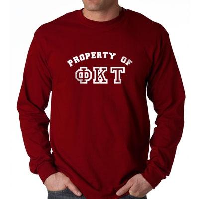 Greek Property Of Longsleeve Fraternity T-Shirt #Greek #Fraternity #Clothing