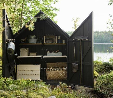 Garden Shed by Ville Hara and Linda Bergroth for Kekkilä Garden. Photo: Arsi Ikäheimonen. Via Dezeen magazine.