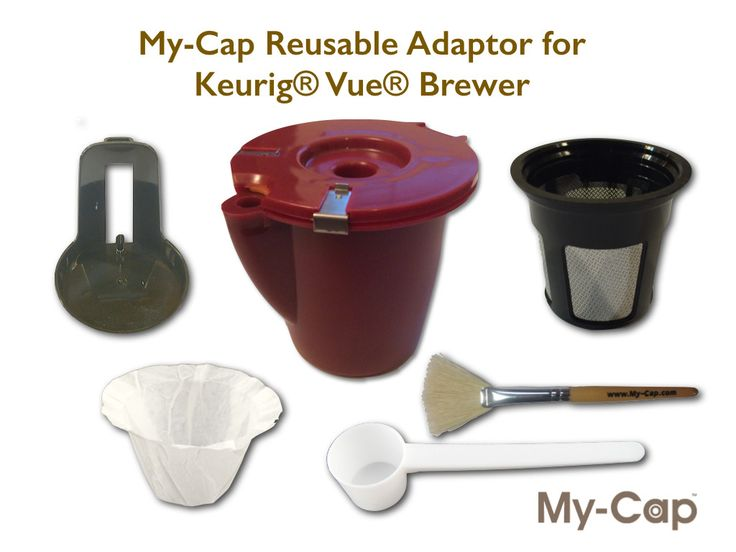 Reusable Adaptor for use with Keurig Vue Brewers