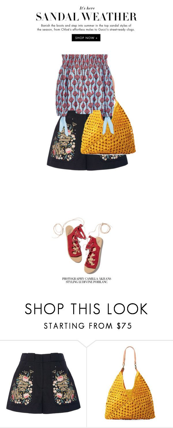 """""""Sandal Weather - Top Set 5/26/16"""" by juliehalloran ❤ liked on Polyvore featuring Ancient Greek Sandals, Vilshenko, Mar y Sol and Caroline Constas"""