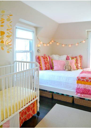 gasp!  so pretty!: Color, Shared Rooms, String Lights, Baby Rooms, Nurseries Guest Rooms, Shared Bedrooms, Big Girls, Girls Rooms, Kids Rooms