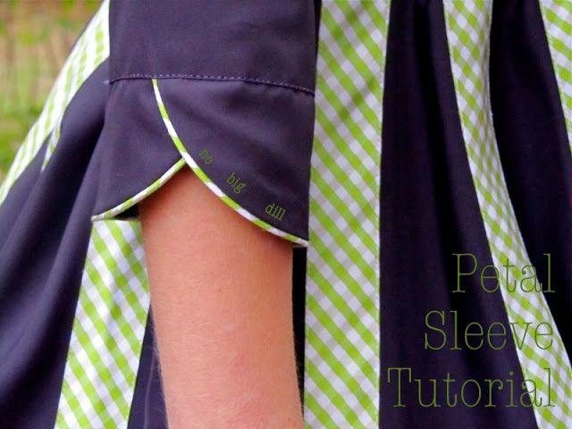 no big dill: Petal Sleeve Tutorial