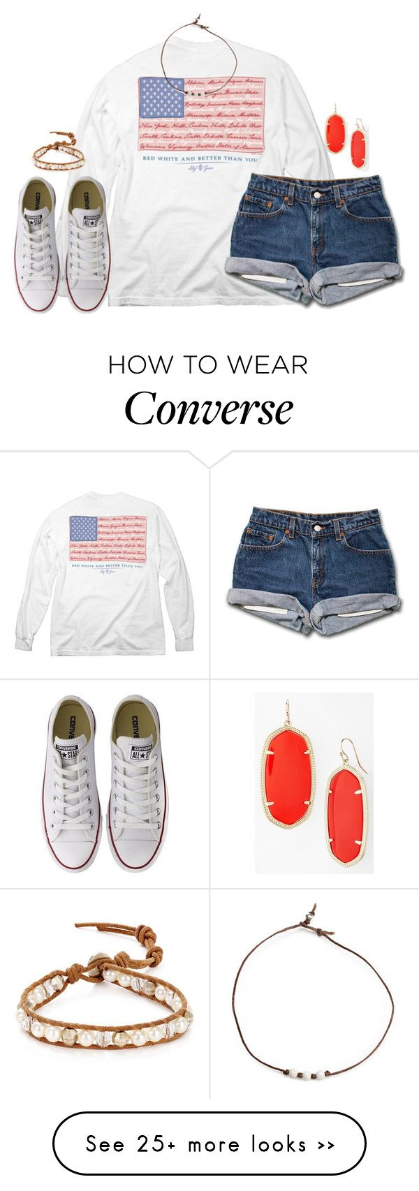 """""""I don't like forced conversations, forced friendships, forced interactions. I simply do not force things. If we don't vibe, we don't vibe."""" by kaley-ii on Polyvore featuring Converse, Chan Luu and Kendra Scott"""